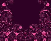 Fundo romântico floral bonito — Vetorial Stock