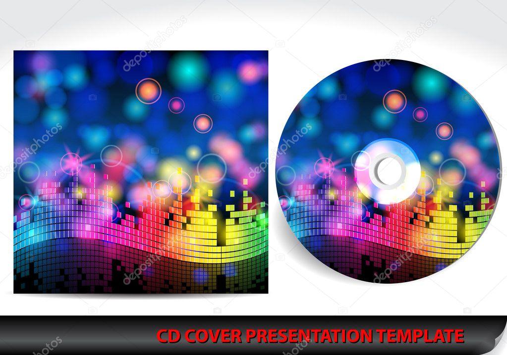 Musik Themen cd Cover Präsentationsvorlage — Stockvektor © glyph ...