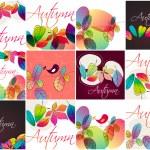 Cute autumn illustrations — Stock Vector