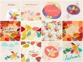 Süß herbst illustrationen — Stockvektor