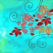 Beautiful autumn illustration — Stock Vector