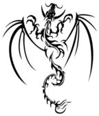Beautiful dragon illustration — Stock Vector