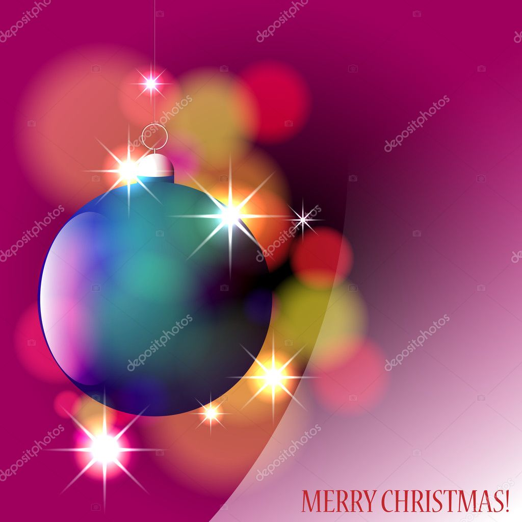 Vector beautiful, colorful, glittering Christmas ornament — Stock Vector #7608409