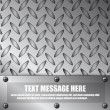 Illustration of metal plate with space for text — 图库矢量图片 #7700016