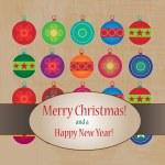 Cute Christmas greeting card — Stock Vector
