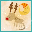Stock Vector: Cute reindeer illustration
