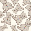Cute teddy bear background — Stock Vector