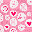 Cute hand drawn style doodle romantic Valentine — Stock Vector