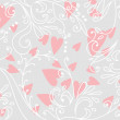 Beautiful floral romantic background — Stock Vector