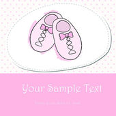 Cute hand drawn style pink baby shoes — Stock Vector