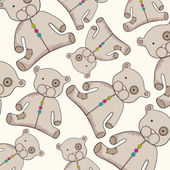 Cute teddy bear background — Cтоковый вектор