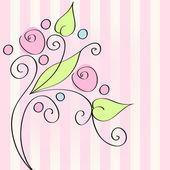 Cute floral romantic background — Cтоковый вектор