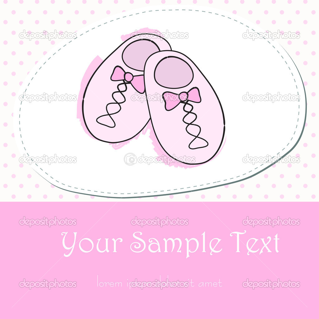 Cute hand drawn style pink baby shoes — Stock Vector ...