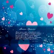 Romantic background — Stockvectorbeeld