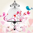 Beautiful floral romantic background — Stock Vector #7822423
