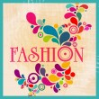 Retro fashion illustration — Stock Vector