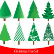 Set of elegant Christmas tree — Stock Vector