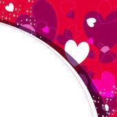 ロマンチックな背景 — ストックベクタ