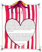 Linda chica leyendo una carta de amor — Vector de stock