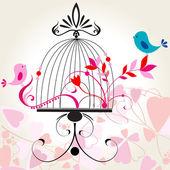 красивый романтический цветочный фон — Cтоковый вектор