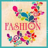 Retro fashion illustration — Stock Vector