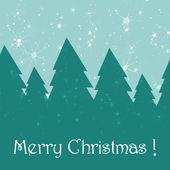 Linda tarjeta de felicitación de navidad — Vector de stock