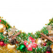 Stock Photo: Christmas festive decoration.card background