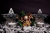 Christmas decorations on white background. — Stock Photo