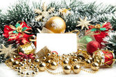 Christmas festive decoration.card background — Stock Photo