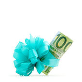 100 euro money gift — Foto de Stock