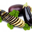 Aubergines isolated — Stock Photo