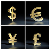 Different currency symbols — Stock Photo