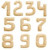 Sand alphabet isolated — Stock Photo
