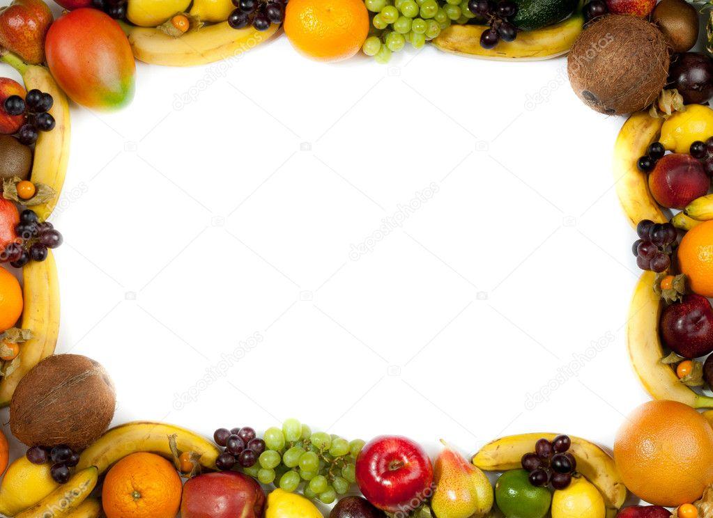 可爱蔬菜边框图片