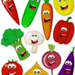 Vegetable cartoon character — Stock Vector