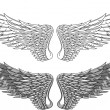 Wings tattoo - Stock Vector