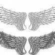 Постер, плакат: Wings tattoo