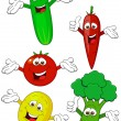 Vegetable cartoon character — Stock Vector #7685383