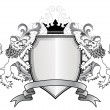 Royalty-Free Stock Vektorov obrzek: Heraldic lion with shield