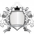 Royalty-Free Stock Imagen vectorial: Heraldic lion with shield