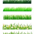 Grass vector collection — Stock Vector