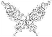 Art butterfly — Stock vektor