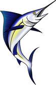 Blue marlin fish illustration — Stock Vector