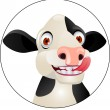 Stock Vector: Funny cow cartoon