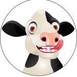 Funny cow cartoon — Stock Vector