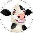 Funny cow cartoon — Stock Vector #7871778