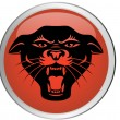 Black panther head button — Stock Vector #7872197
