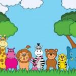 Animali cartoon — Vettoriale Stock