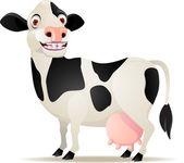 Smiling cow cartoon — Stock Vector