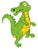 Dibujos animados de cocodrilo — Vector de stock